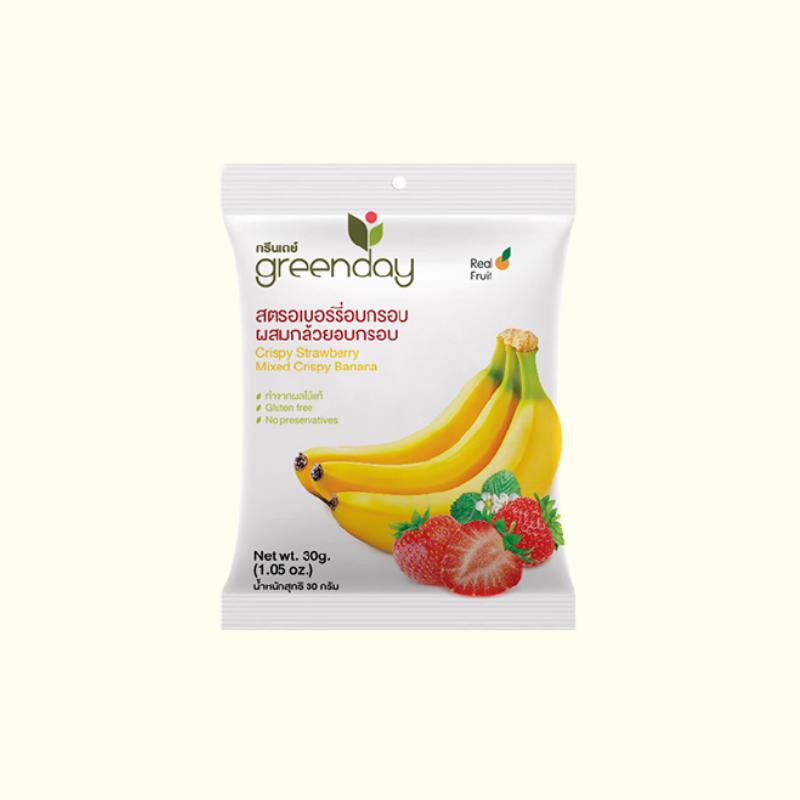 CRISPY STRAWBERRY & Banana 30 G.