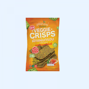 Greenday Veggie Crisps Sweet & Spicy Flavor 16g.