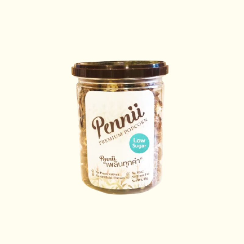 Pennii Premium Popcorn กระป๋องเล็ก - Low Sugar_MemagEat