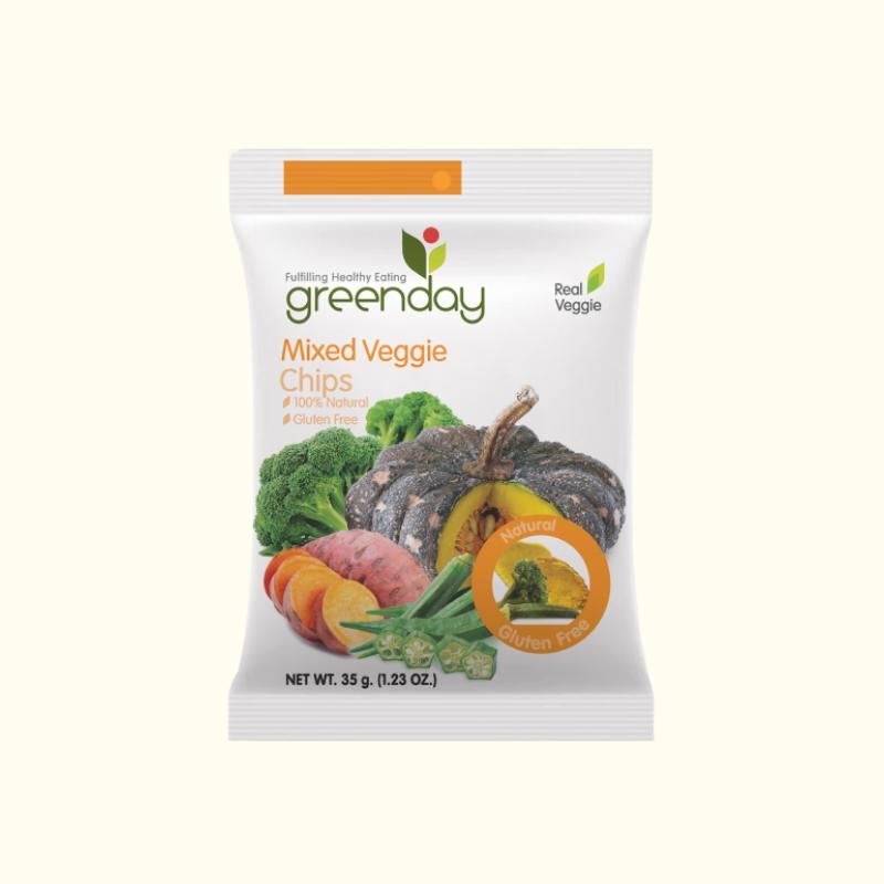 Greenday MIXED VEGGIE CHIPS 35 G.