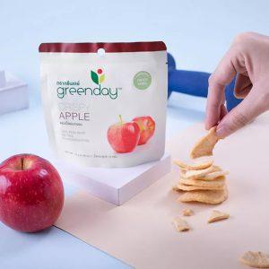 แอปเปิ้ลอบกรอบกรีนเดย์ ขนมเพื่อสุขภาพ ที่ไม่ได้มีดีเเค่ประโยชน์ แต่รสชาติยังอร่อยถูกใจ ทำจากแอปเปิ้ลแท้ปราศจากน้ำตาล รสชาติหวานกำลังดี ส่วนประกอบ ; - แอปเปิ้ล 100% จำนวนแคลอรี : 45 kcal น้ำหนัก 12.00 กรัม ราคา 28.00 บาท